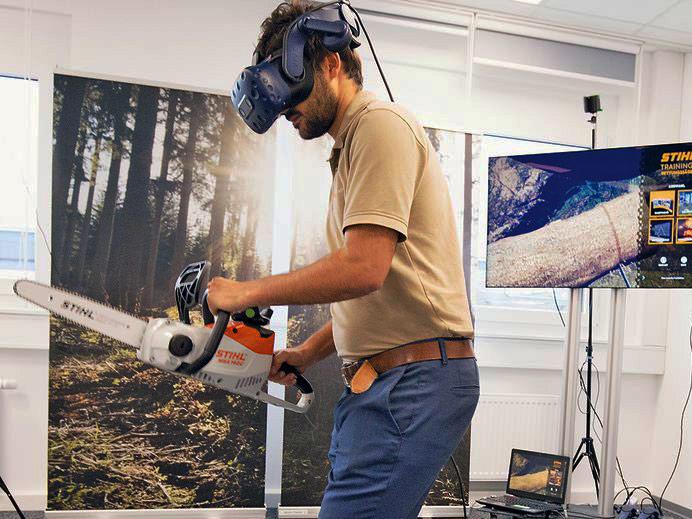 Effizientes Distanzlernen in Forst, Feuerwehr und Rettung durch virtuellen Motorsägen-Simulator | Demo-Termine
